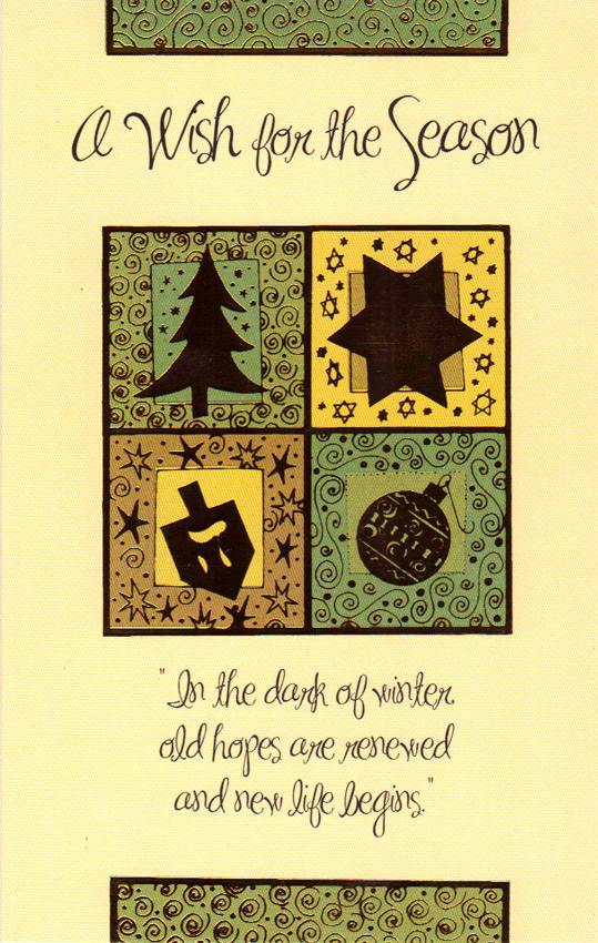 Wholesale Christmas Multi Faith Greeting Card