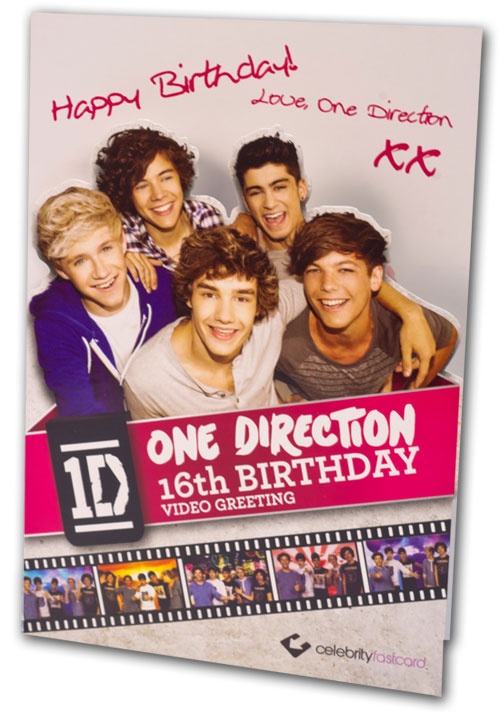 CFC001 One Direction Video Greeting Cards Sampler Assortment