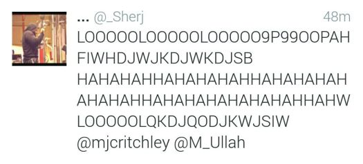 The incomprehensible reaction of one Twitter user to my tweet.