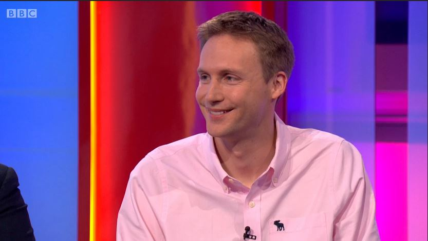 Picture of Joe Twyman on the One Show.