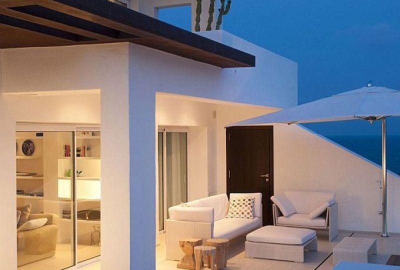 decoración de casa de verano en Ibiza