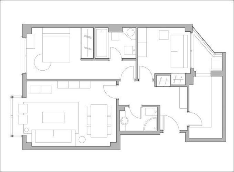 Proyecto de amueblamiento y decoración de una vivienda