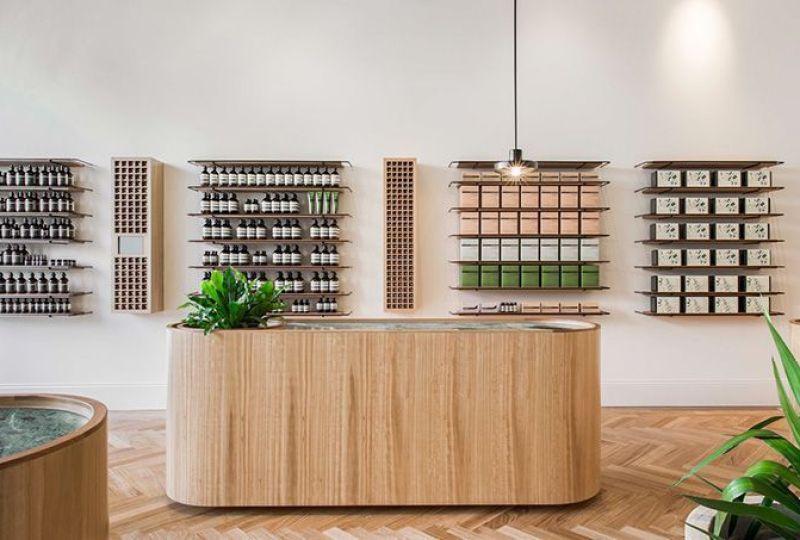 Diseño y decoración de la tienda Aesop