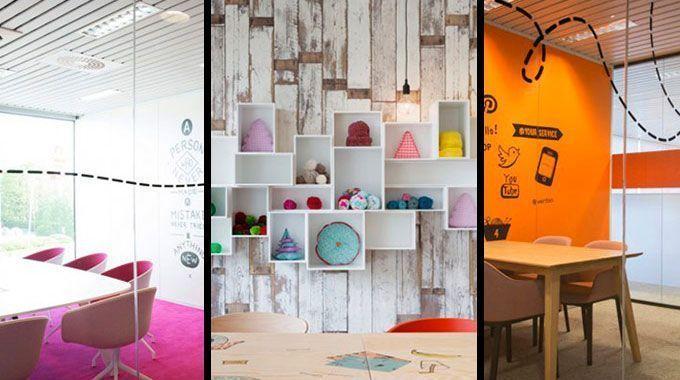 el diseo colorista y vital de las oficinas de veritas decoracin de oficina