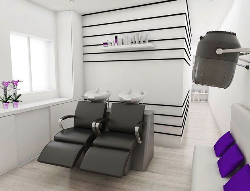 Decoración de peluquería de diseño