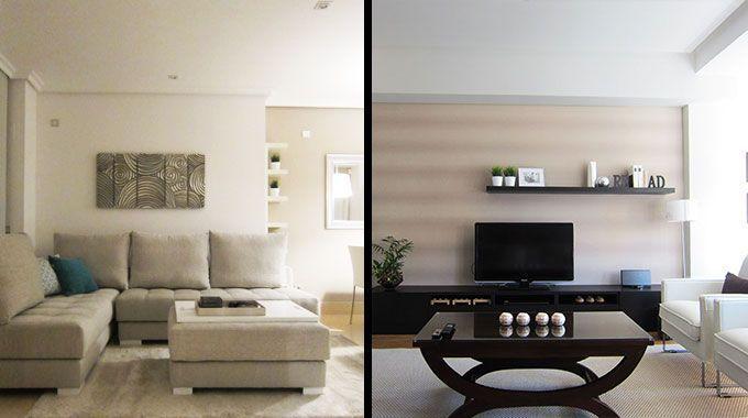 Decoración y amueblamiento de dos pisos