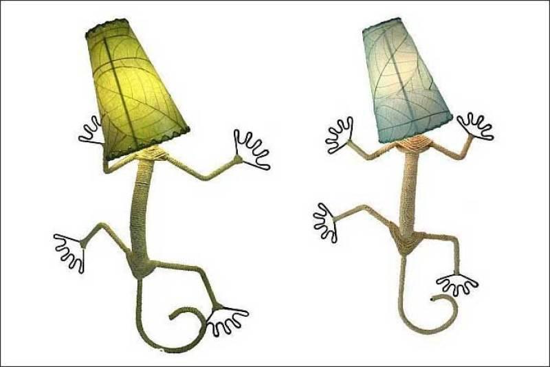 Iluminación y humor: lámparas curiosas y originales