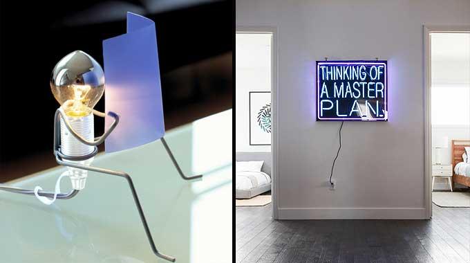 Decoración y humor: lámparas originales