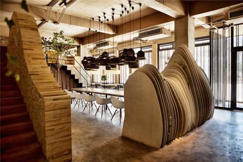 Decoración de la cafetería Ban Shan en Pekín