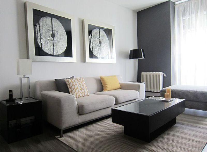 Decoradores en madrid el antes y despu s de un piso en - Decorar salones rectangulares ...