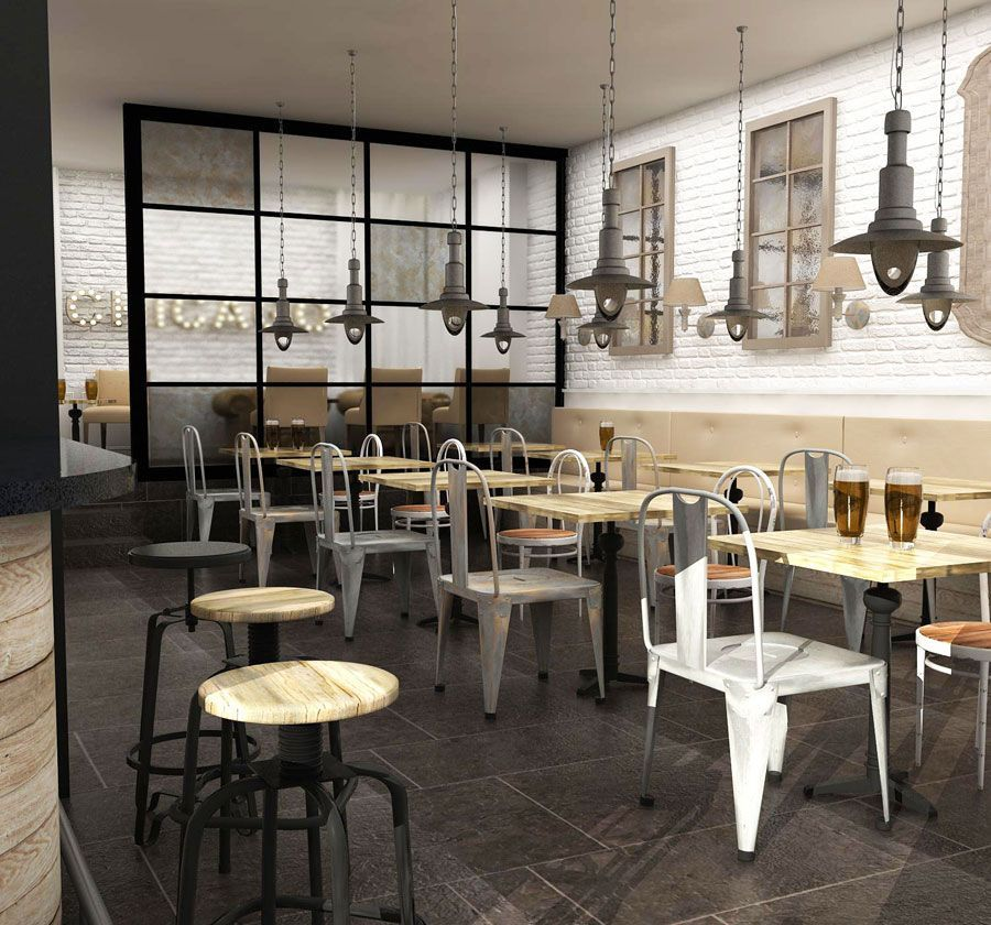 Dise o de bares proyecto de estilo vintage industrial for Decoracion bares tematicos
