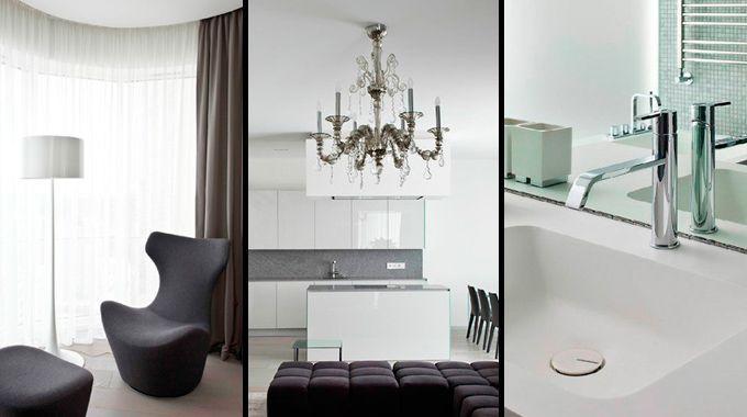 Decoraci n minimalista en un bonito piso de mosc for Decoracion piso minimalista