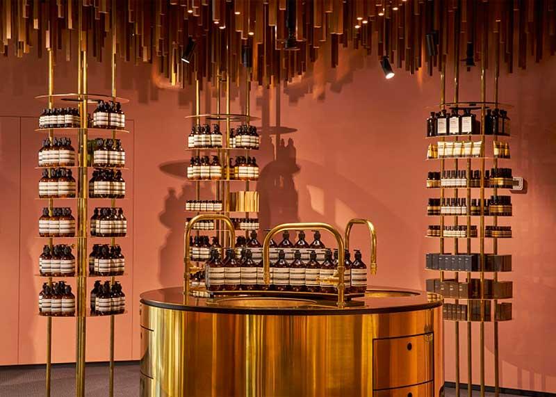 Diseño de la tienda Aesop en Oslo