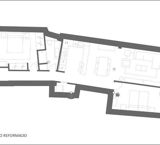 Interiorismo y amueblamiento de un piso masculino