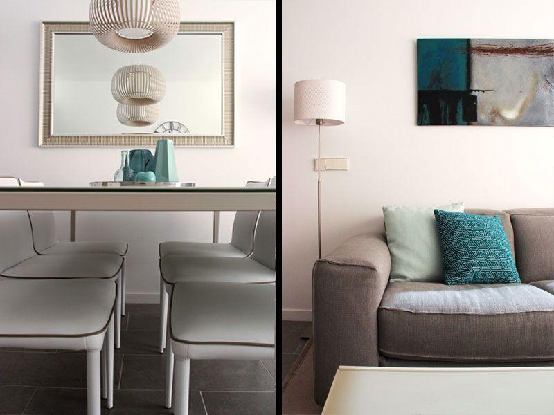 Mobilario y decoración para el salón de un piso pequeño