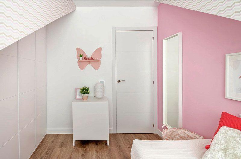 Dormitorio infantil decorado en rosa