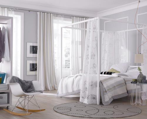 Lichte frisse slaapkamer  Interieur inrichting