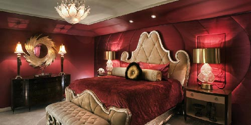 Romantische slaapkamer  Interieur inrichting