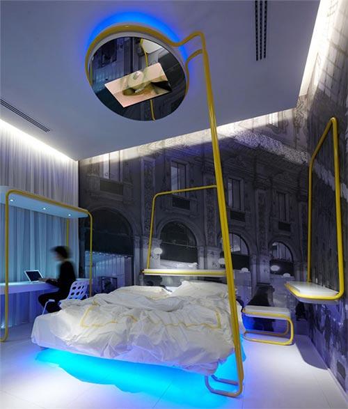 Slaapkamers van Town House Street hotel  Interieur inrichting