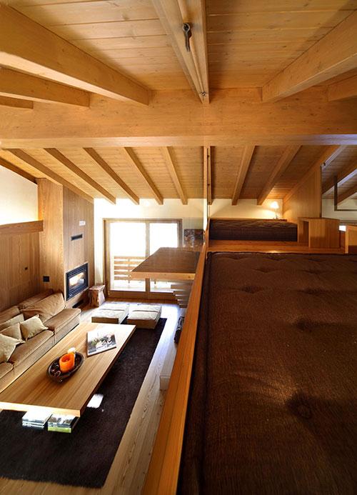 Houten interieur inrichting in Zwitserland  Interieur