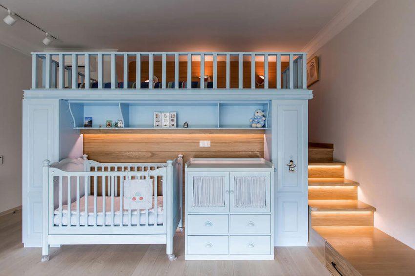 Babykamer in de slaapkamer  Interieur inrichting