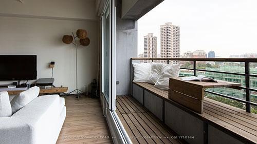 Balkon in klein appartement  Interieur inrichting