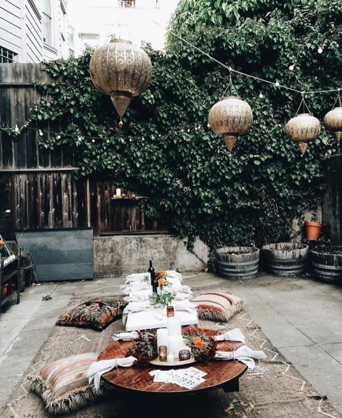 Bohemian tuin  Interieur inrichting