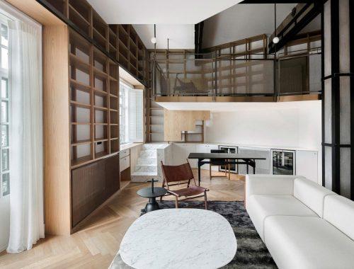 Interieurs met rechte muren zijn het meest eenvoudig in te