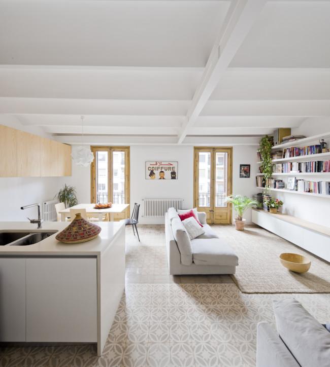 Exotische woonkamer uit Barcelona  Interieur inrichting
