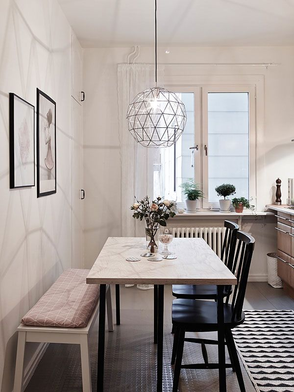 Hanglampen boven de eettafel  Interieur inrichting
