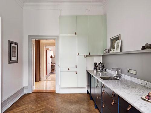 Keuken met open verbinding met woonkamerInterieur