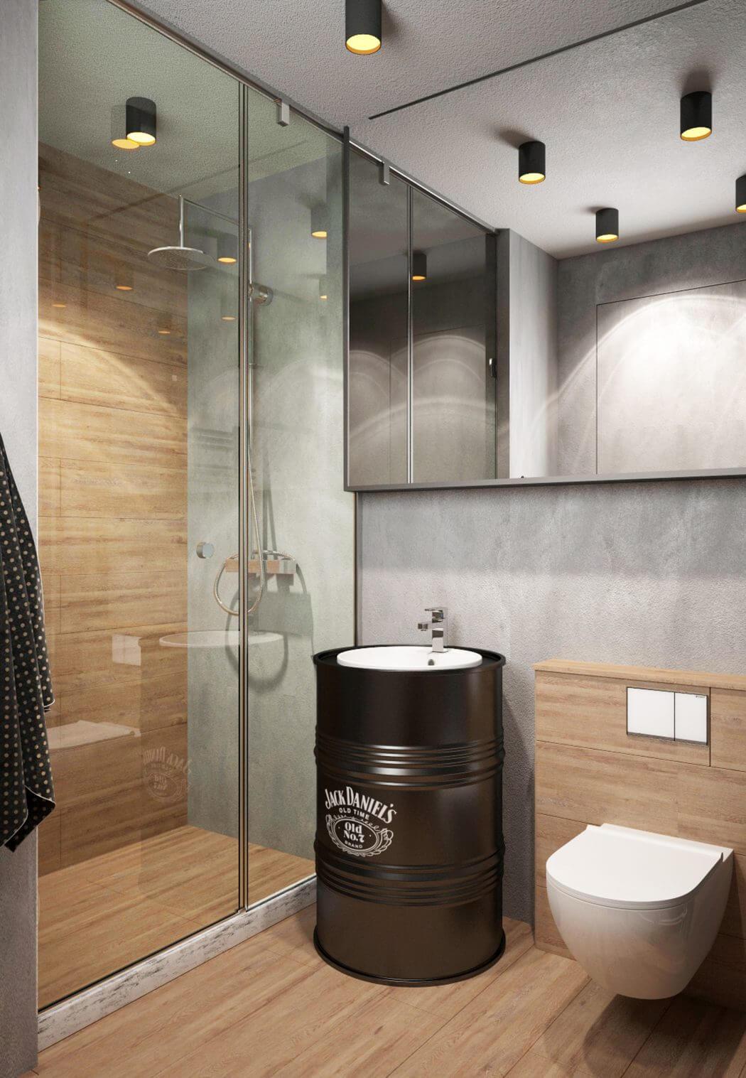 Klein industrieel loft appartement uit Moskou  Interieur