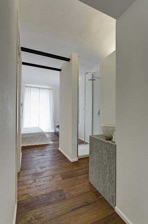 Kleine open badkamer  Interieur inrichting