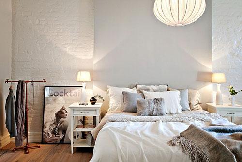 Knusse slaapkamer  Interieur inrichting