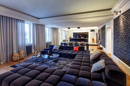 Luxe woonkamer met mannelijk tintje  Interieur inrichting