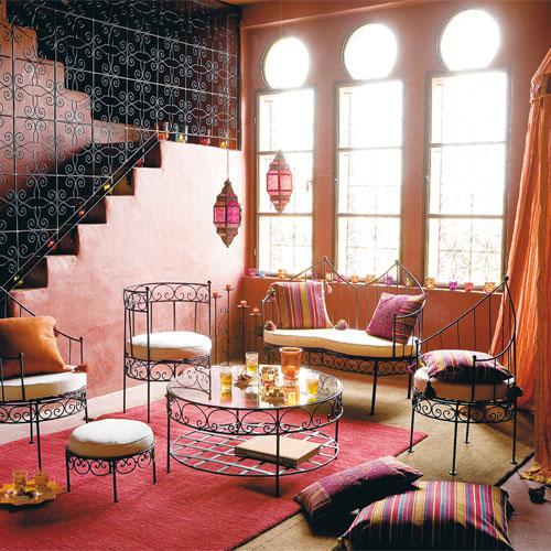 Marokkaanse woonkamer inrichten  Interieur inrichting