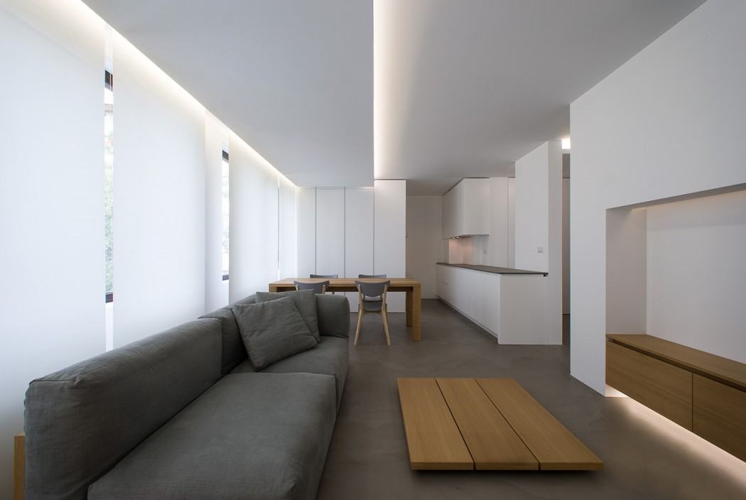 Minimalistisch strak appartement door interieurarchitect