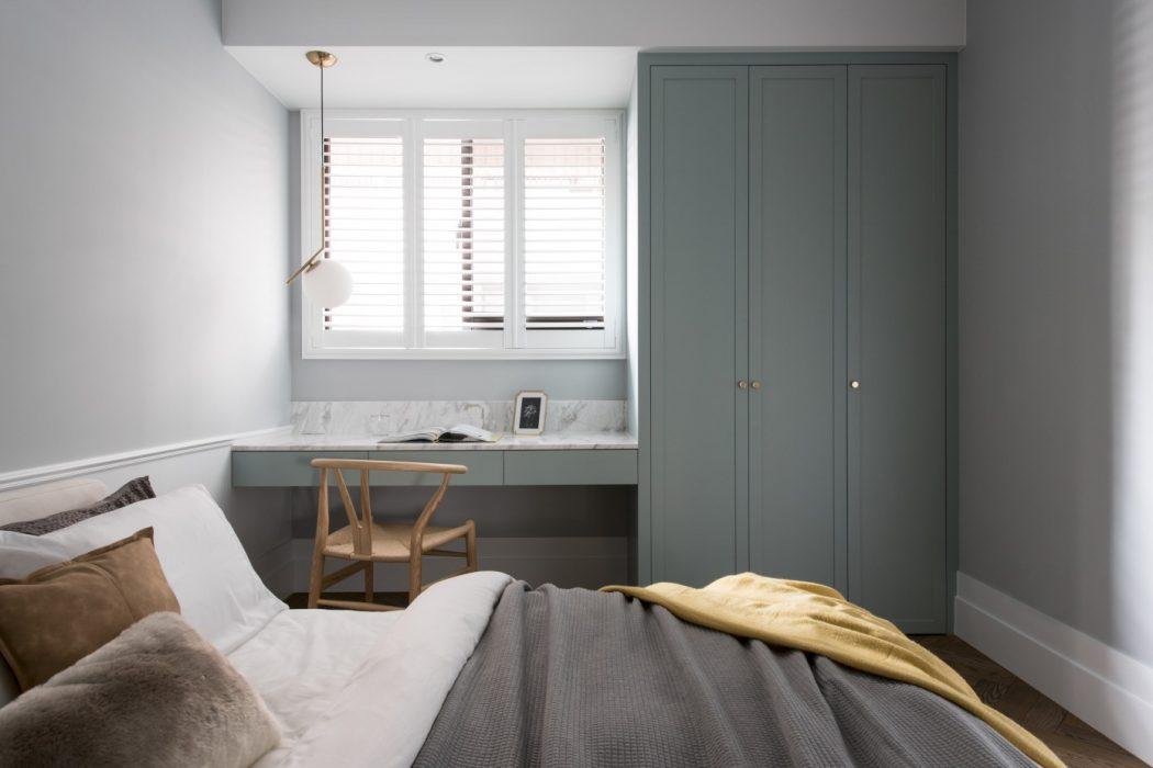 Moderne klassieke slaapkamer met maatwerk oplossing