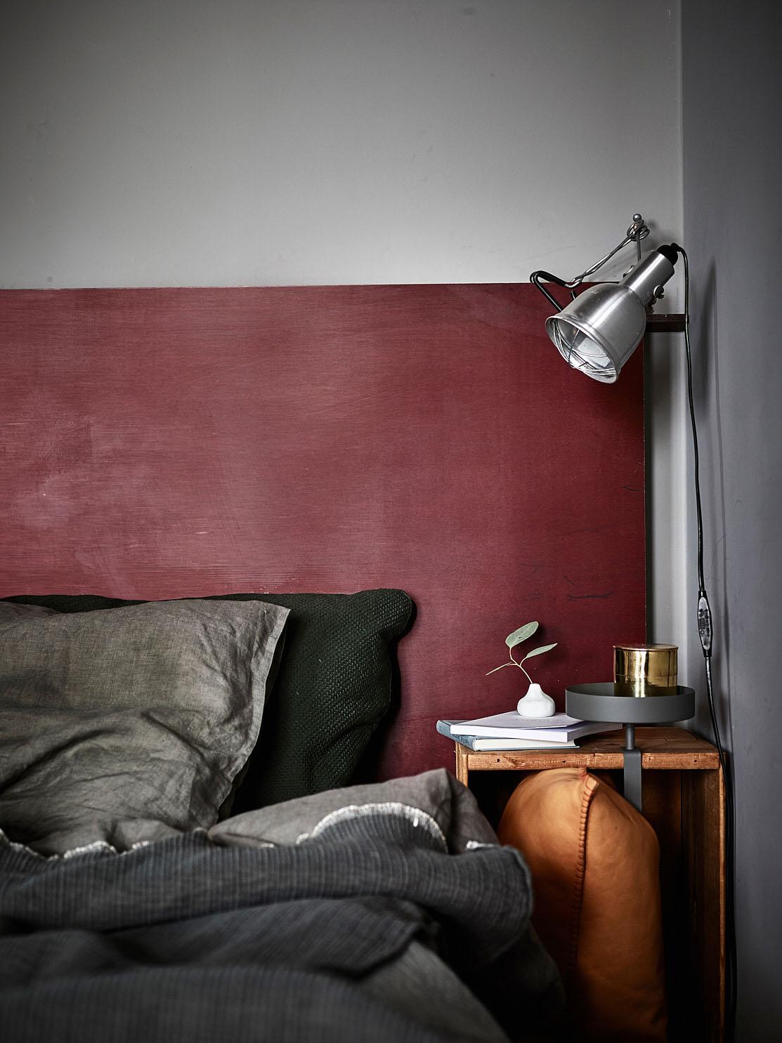 Open slaapkamer van mini loft appartement  Interieur