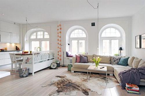 Open woonkamer indeling  Interieur inrichting