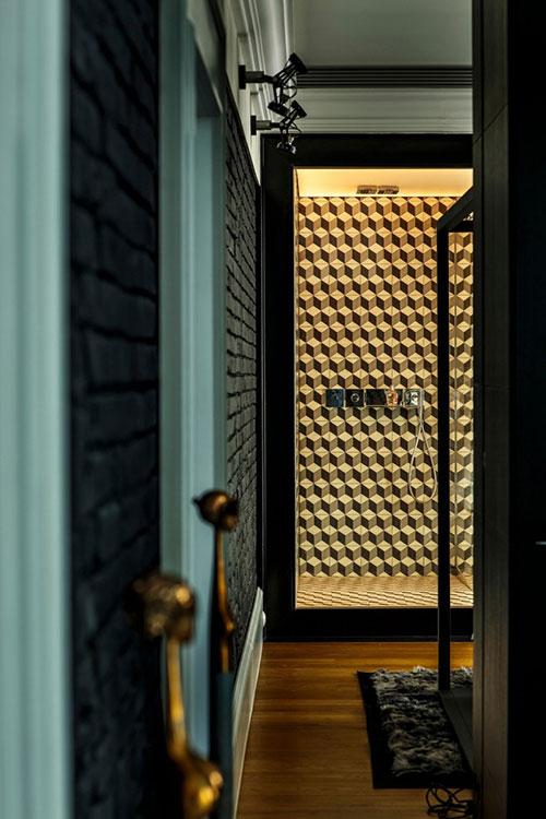 Penthouse loft slaapkamer  Interieur inrichting
