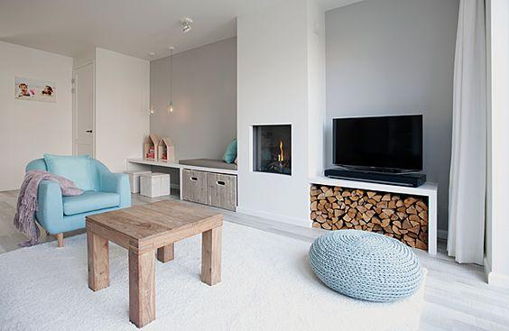 18x Plank als TV meubel  Interieur inrichting