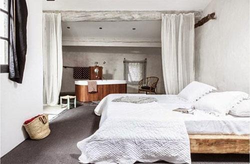 Landelijke rustieke slaapkamer  Interieur inrichting