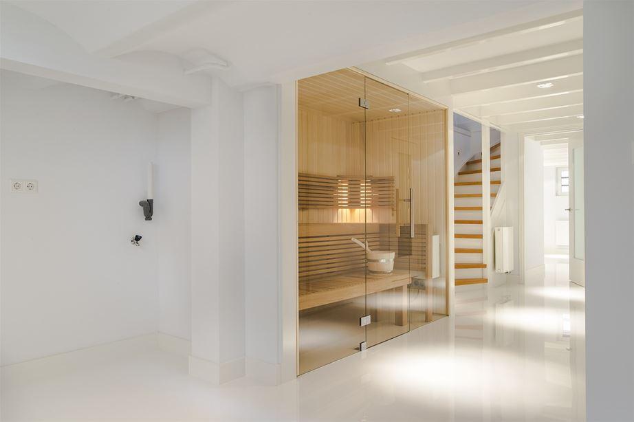 Sauna in het souterrain  Interieur inrichting
