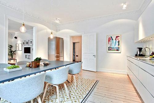 Scandinavische woonkeuken  Interieur inrichting