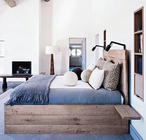 Slaapkamer inrichten met steigerhouten bedden  Interieur