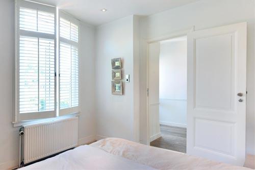 Slaapkamer met hout  Interieur inrichting