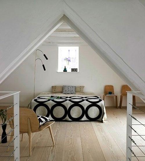 Slaapkamer ontwerpen op zolder  Interieur inrichting