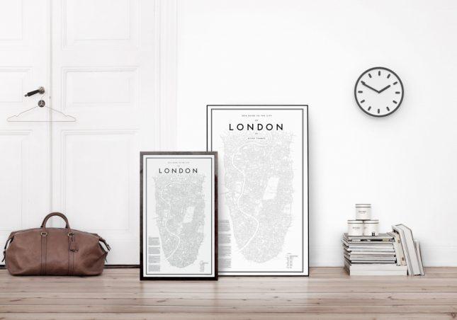 Steden plattegrond posters  Interieur inrichting