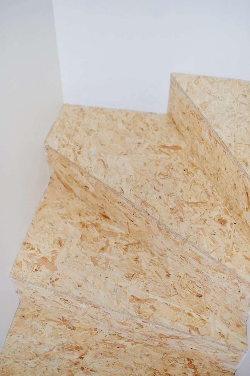 Trap van OSB hout  Interieur inrichting